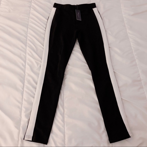 60% off Romeo & Juliet Couture Pants - Hight waisted white stripe ...